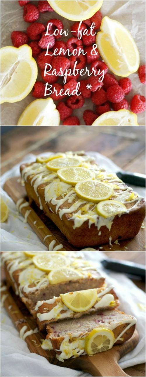Low fat lemon raspberry bread