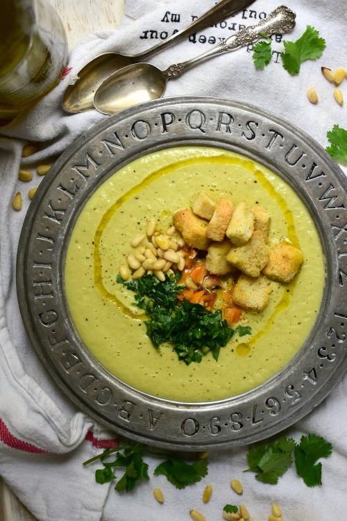 Creamy asparagus gazpacho