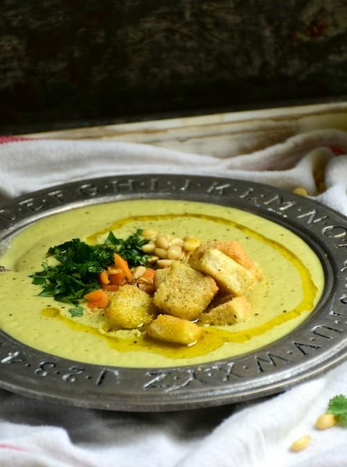 super creamy asparagus soup
