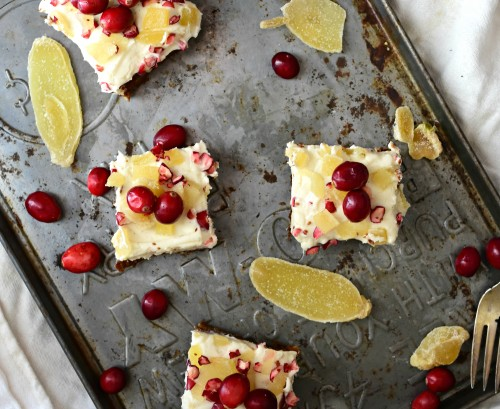 cranberry ginger bars
