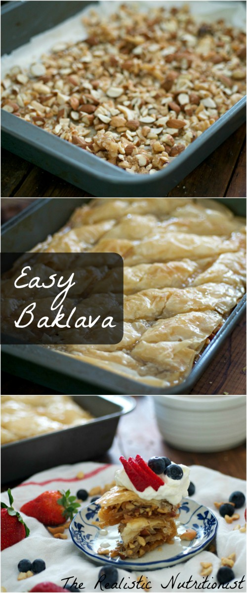 Easy homemade baklava-pin