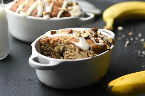 Mini nutty banana bread