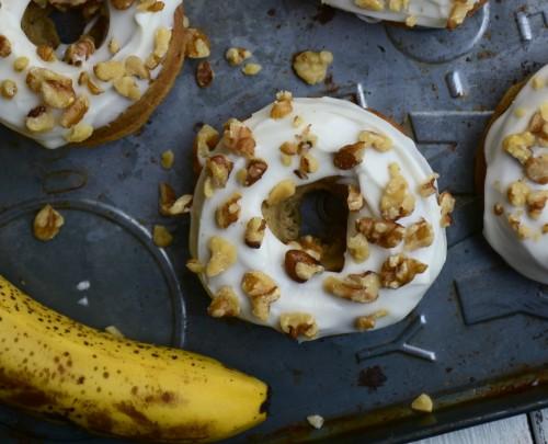 Easy baked banana donuts