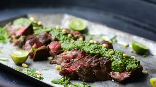 easy cilantro steak