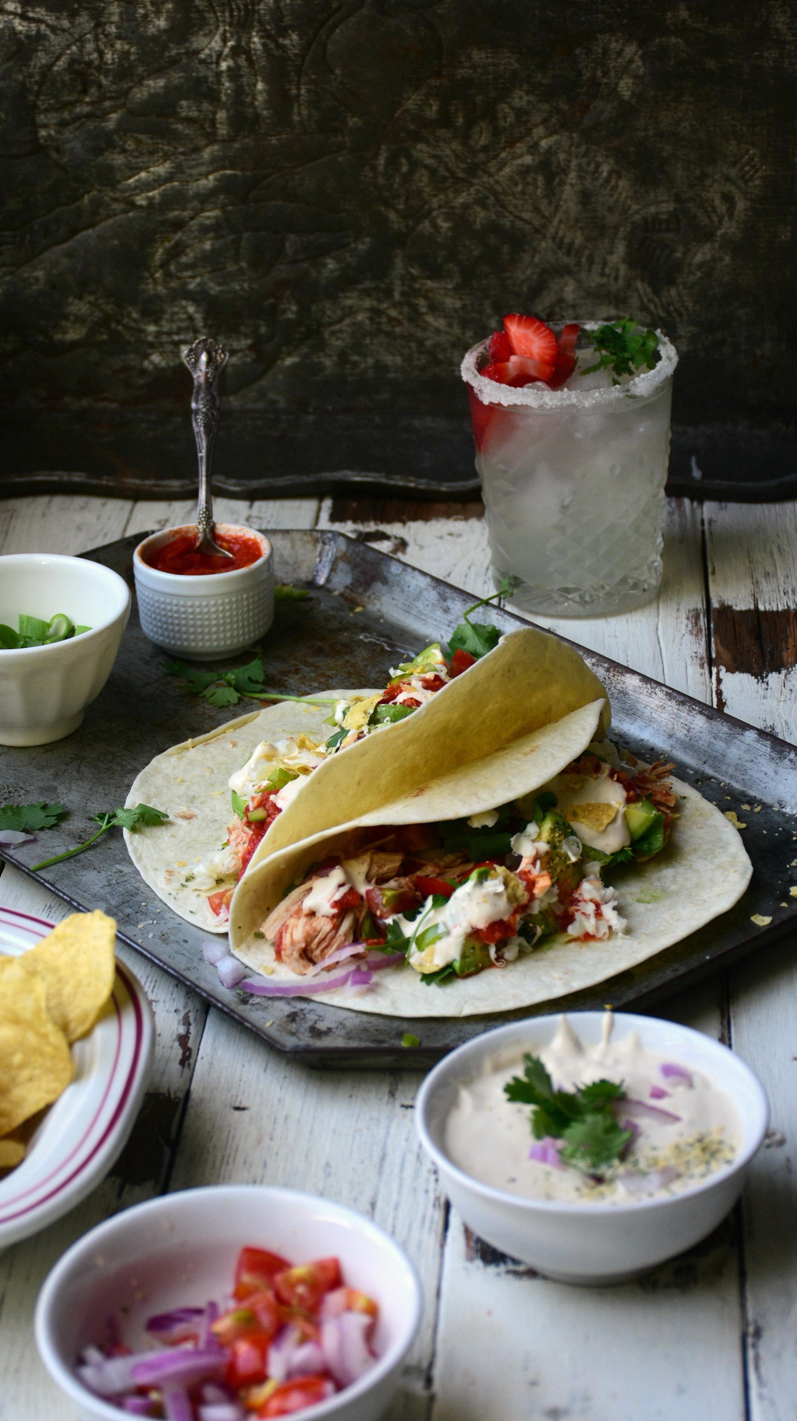 DIY Salsa Chicken Taco Bar | The Realistic Nutritionist
