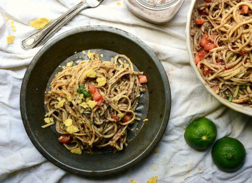 Spicy hummus pasta2