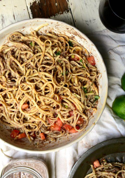 creamy hummus pasta2